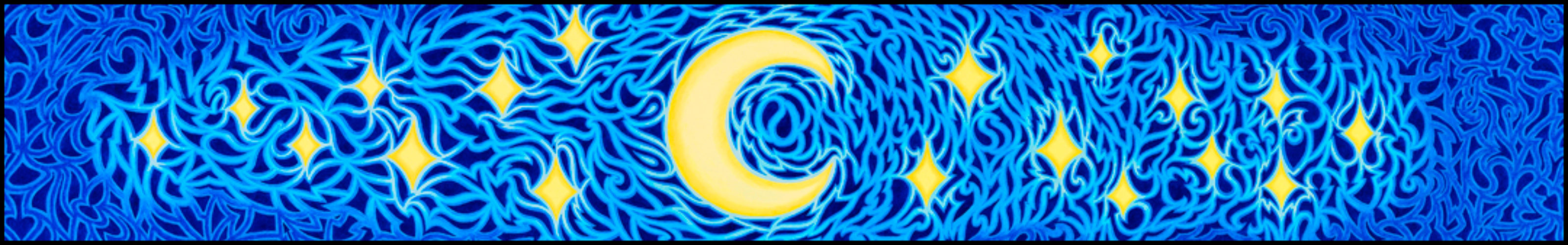 """Energy of The Night - Oil on canvas, 8"""" x 48"""", 2006-2007"""