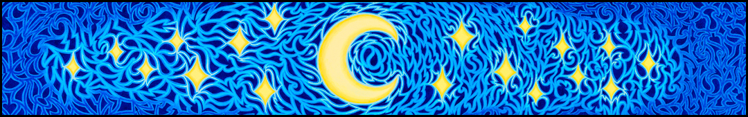"Energy of The Night - Oil on canvas, 8"" x 48"", 2006-2007"