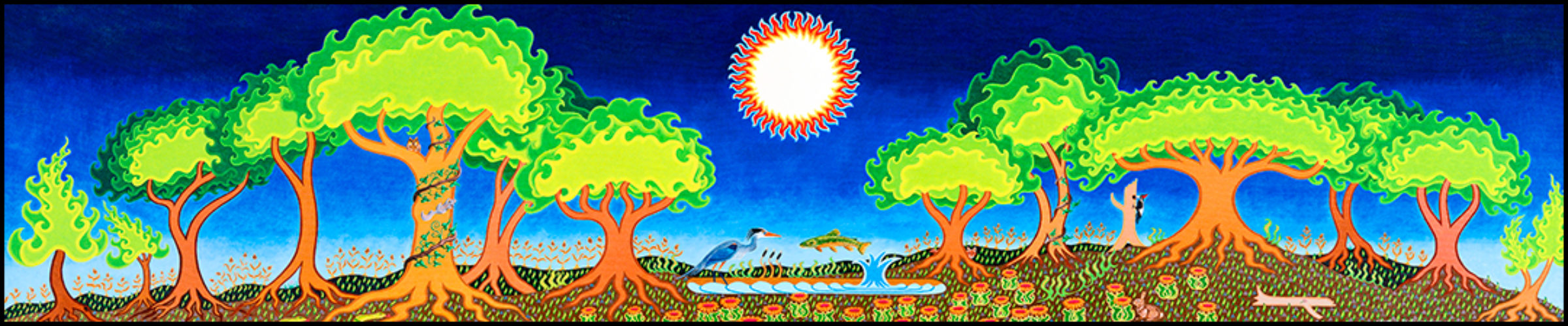 """A Small Miracle - Oil on canvas, 22"""" x 96"""", 2005-2006"""
