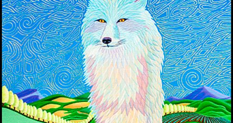 "Blue Fox - Oil on canvas, 18"" x 24"", 2013"